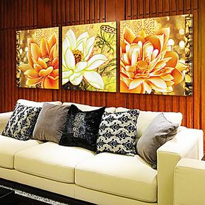 餐厅壁画欧式客厅装饰画三联画墙画卧室无框画挂画客厅现代玄关画