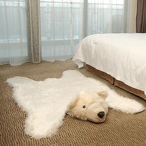特价菲诗澜美式高端可爱北极熊客厅卧室满铺地垫房间床边毯垫儿童
