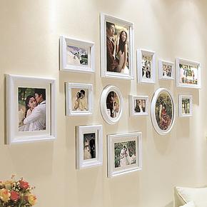 欧木格 照片墙 欧式实木相片墙 客厅创意相框墙 相框组合1781