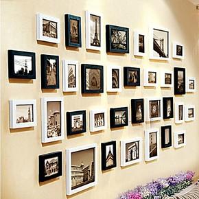 柠檬树 欧式复古照片墙 超大墙面34框 相框墙 相片墙创意组合