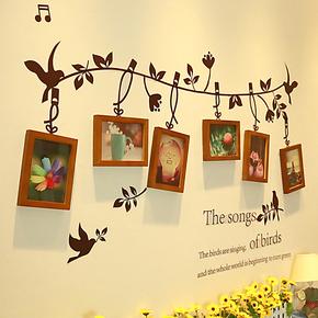 实木照片墙 相框墙 相框组合 相片墙欧式 家居组合配墙贴Q6-02
