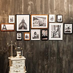 实木照片墙相片墙创意大尺寸相框墙组合宜家软木板客厅12B1超值