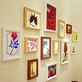 13框 宜家欧式 实木 韩式 简约 创意组合 照片墙 相框墙 相片墙
