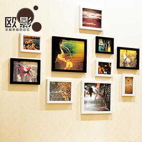 欧影 照片墙 10框小清新相框墙 创意家居组合相片墙10OY424