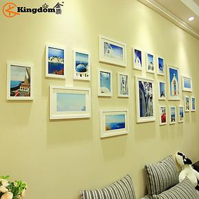 金鼎 20框宜家 超大实木欧式照片墙 组合创意相框墙 时尚家饰墙贴