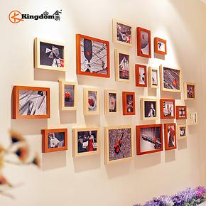 金鼎 25框实木欧式照片墙 相片墙 创意 组合相框墙 时尚家饰墙画