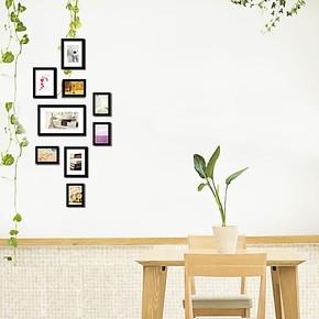 景宇照片墙9框创意组合竖形相片墙楼梯楼道玄关相框墙(不送画心