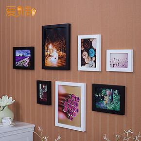 新款照片墙创意相框画框 欧式客厅相框照片墙 宝宝照片墙送蓝丁胶
