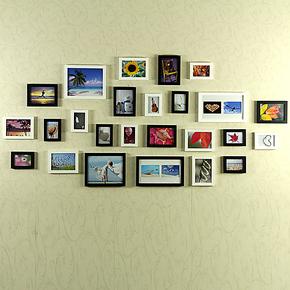 右手边  实木照片墙25框相框墙客厅大尺寸组合创意家居相片墙25B1
