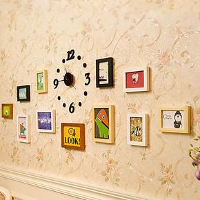 照片墙 相框墙 相框组合 相片墙 欧式现代简约实木照片墙Q11-07