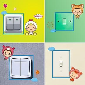 快乐宝宝相片贴 卧室电脑贴马桶贴可移除照片墙贴纸 24个开关贴