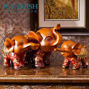 【装修节】大象欧式时尚创意摆件家居工艺品结婚装饰品摆设