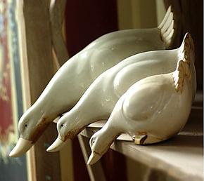 宜然家居陶瓷摆件现代工艺品家居摆设品创意装饰品卡尔夫套三鸭