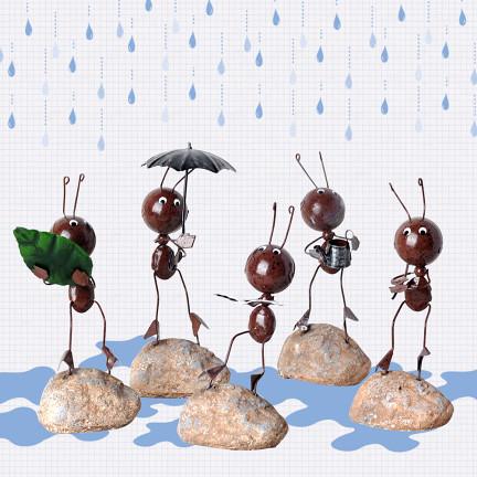 铁皮蚂蚁可爱家具饰品家居玄关小摆件创意手工制品精致精美礼品店