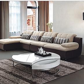 布艺沙发组合现代高档转角大户型客厅贵妃椅 宜家简约家居时尚
