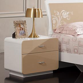 逸彩佳居 A02简约现代风格 床头柜 卧室家具 特价板式储物柜
