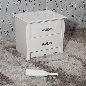 安尔美家具简约现代储物柜白色烤漆床头柜收纳柜宜家床边柜015