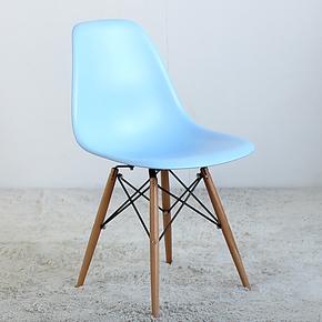 EHdecor家具 时尚椅子 欧式宜家餐椅 休闲简约现代白色椅特价