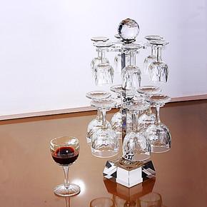 心语新晨*通用型双层水晶酒具套件 水晶红酒杯*葡萄酒杯杯架