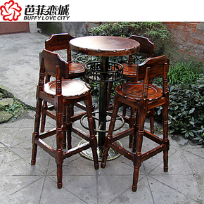 包邮实木酒吧椅 高脚椅 欧式吧椅吧凳酒吧桌椅酒吧凳吧台凳吧台椅