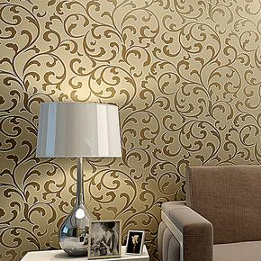 玉兰墙纸欧式进口高档无纺珠光植绒客厅卧室电视背景墙纸奢华环保