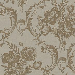 玉兰墙纸 欧式大马士革无纺布客厅背景卧室壁纸 透纳迪奥231301