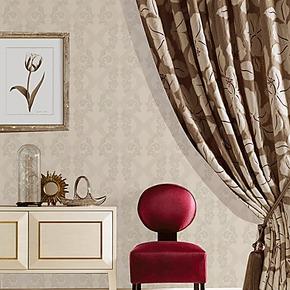玉兰墙纸进口无纺布植绒时尚温馨环保卧室客厅电视背景墙壁纸特价