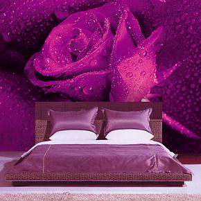 壁涂鸦大型壁画 客厅卧室背景墙壁纸现代简约浪漫温馨 墙纸B1143