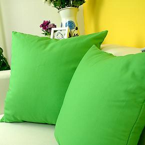 艾沫_纯意-绿色抱枕靠垫靠枕_靠垫套抱枕套_床头沙发纯棉布艺纯色