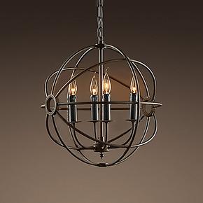 美式乡村复古铁艺经典创意福柯个性吊灯客厅卧室餐厅书房灯饰灯具