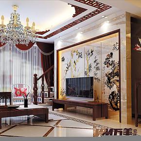 万美瓷砖 电视背景墙瓷砖 客厅艺术壁画砖 雕刻仿古砖 梅兰竹菊
