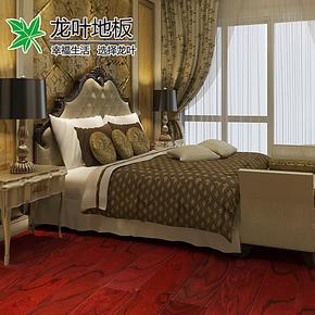 欧式浮雕 复古E0/龙叶红色2855/家用地暖地热 强化 复合 木地板12