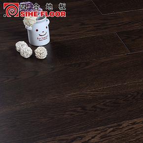 四合地板 三层实木复合地板 地热地板 橡木浮华背后厂家直销