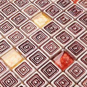 【莱纳斯】玻璃马赛克玄关瓷砖卫生间墙贴拼图 背景墙瓷砖建材