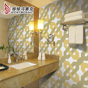 珍珍 简约现代拼图 陶瓷拼花马赛克 家装 工装 背景墙 瓷砖贴MZ82
