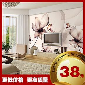 现代简约温馨浪漫 玉兰花 大型壁纸墙纸壁画电视沙发卧室床头背景