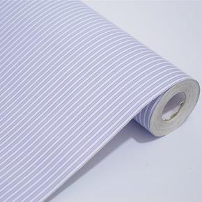 余美PVC自粘墙纸 蓝色色条纹客厅卧室壁纸 家具翻新贴Y1050