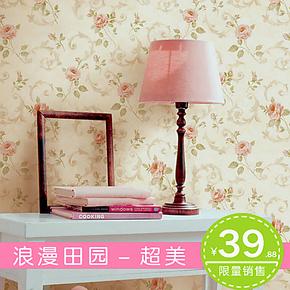 柏盛壁纸 田园 墙纸 卧室 温馨浪漫 客厅 壁纸无纺布 特价 背景墙