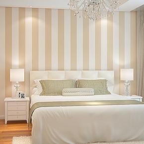 T藤格先生 现代简约竖条纹 无纺布壁纸 客厅沙发卧室背景墙纸 GST