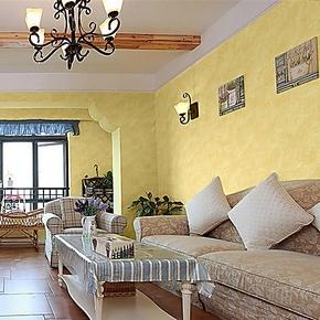 歌诗雅纯纸墙纸 客厅卧室满铺 进口环保素色纯色暖黄色壁纸87