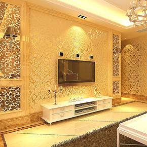 T新巢 立体植绒壁纸  简约欧式大马士革219 客厅卧室满铺墙纸