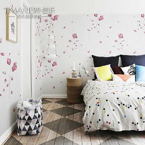 图麦墙纸壁纸 客厅卧室壁纸 电视背景墙壁纸 田园小碎花 pvc 初恋