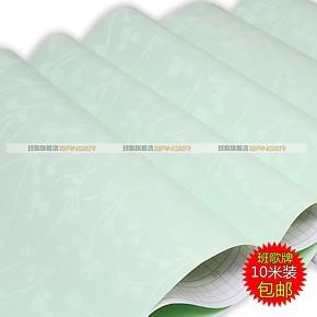 包邮加厚纯色绿色压纹PVC自粘墙纸 贴客厅卧室壁纸家具翻新贴4407