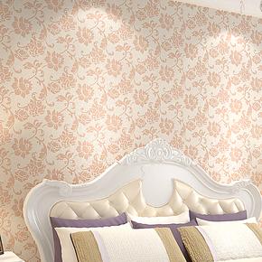欧式简约无纺圆网发泡浮雕压花墙纸 卧室/电视背景/客厅婚房壁纸