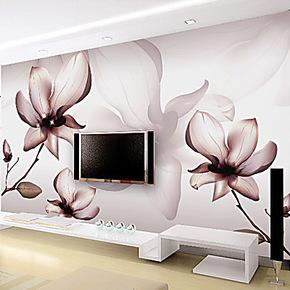 大型壁画 卧室客厅电视背景墙壁画 定做家装壁纸特价 蝴蝶花