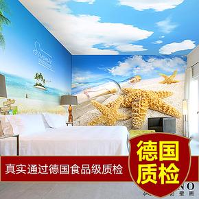 西诺大型壁画 客厅电视卧室床头背景墙地中海壁纸墙纸 梦幻爱琴海