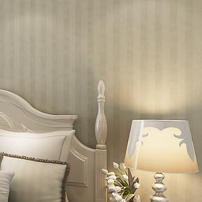 将旗 美式乡村绿色条纹 纯纸墙纸 RT56903卧室客厅满铺搭配壁纸