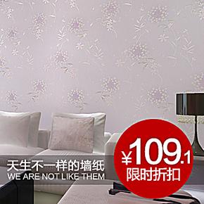泰瑞壁纸韩式 田园小花背景墙 粉色卧室满铺新品墙纸S9 68881