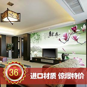 锐之颖大型壁画中式无纺布墙纸壁纸电视背景墙卧室客厅古逸环保画