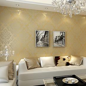 陛尚坊墙纸 欧式大马士革墙纸 环保无纺布低发泡墙纸 满铺壁纸 T